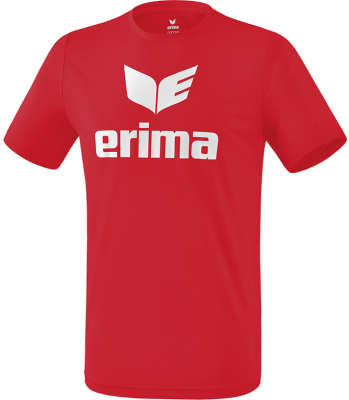 Erima Funktions Promo T-Shirt rot-weiß
