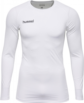 Hummel First Performance Kompressions LA-Shirt weiß