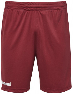 Hummel Core Poly Shorts maroon
