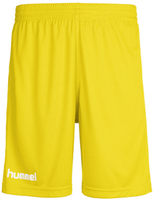 Hummel Core Poly Shorts sports yellow pr