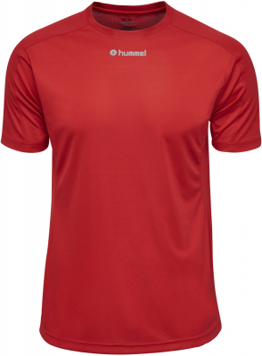 Hummel Runner Kurzarm T-Shirt true red