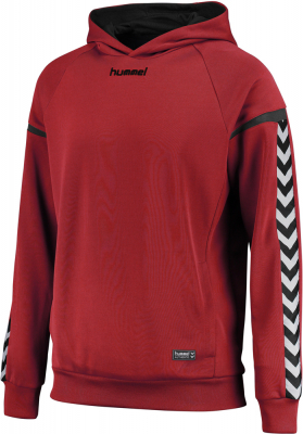 Hummel Authentic Charge Poly Hoodie true red S