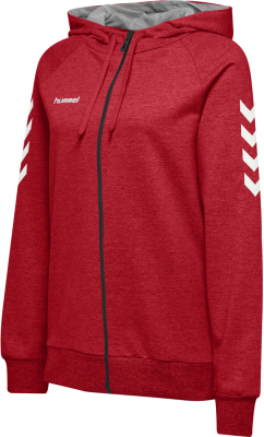Hummel Go Baumwoll Damen Zip Hoodie true red