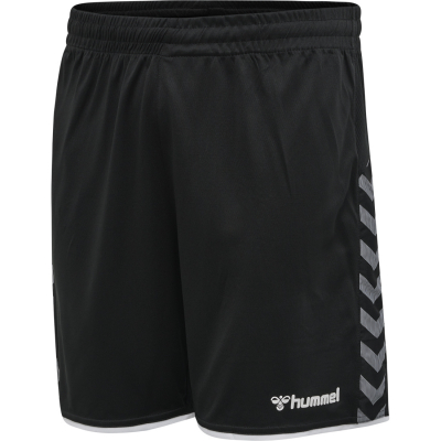 Hummel Authentic Herren Poly Shorts schwarz-weiß