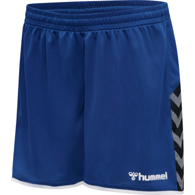 Hummel Damen Poly Shorts Authentic blau