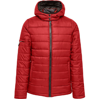 Hummel Kinder Kapuzen-Steppjacke North rot