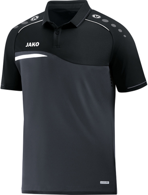 Jako Competition 2.0 Polo anthrazit-schwarz