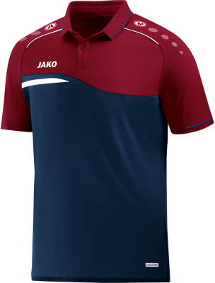 Jako Competition 2.0 Polo marine-dunkelrot