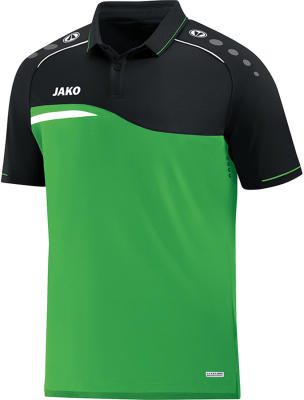 Jako Competition 2.0 Polo softgreen-schwarz