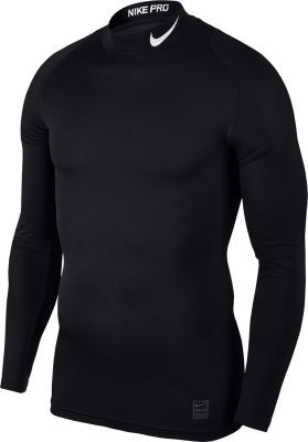 Nike Top Compression Mock Herren Langarm Top schwarz-weiß L