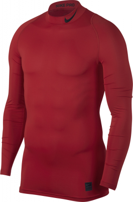 Nike Top Compression Mock Herren Langarm Top university red