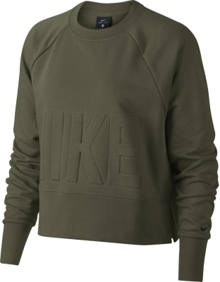 Nike Damen Training Top olive canvas-schwarz S