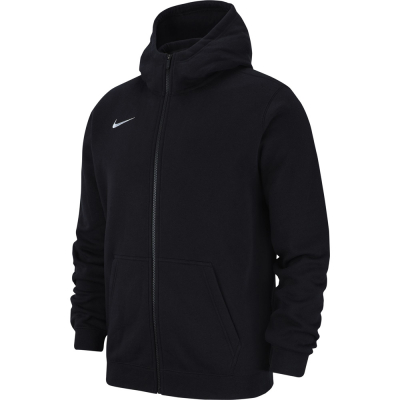 Nike Team Club 19 Kinder Full Zip Hoodie schwarz-weiß