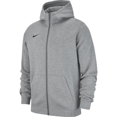 Nike Team Club 19 Kinder Full Zip Hoodie dark grey heather