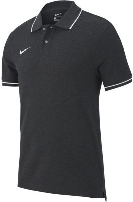 Nike Team Club 19 Kinder Polo charcoal heather-weiß