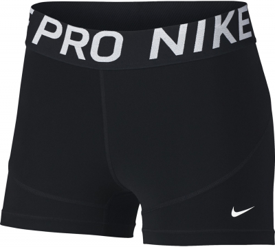 nike pro damen 3inch shorts schwarz wei s sportbedarf shop. Black Bedroom Furniture Sets. Home Design Ideas