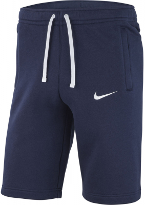 Nike Team Club 19 Kinder Fleece Shorts obsidian-weiß