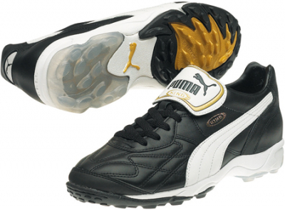 Puma King Allround TT Fußballschuh black-white-gold 42