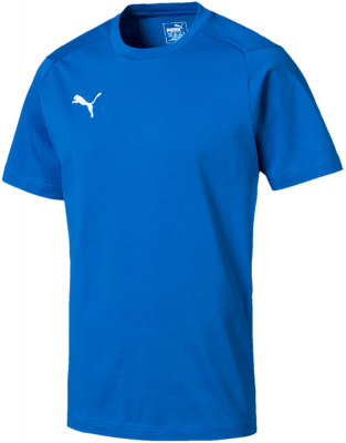 Puma Liga Casuals T-Shirt electric blue lemonade-puma white