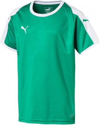 Puma Liga Kinder Trikot pepper green-puma white