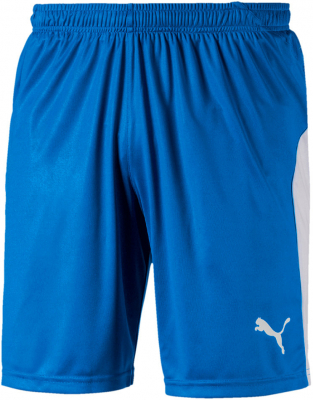 Puma Liga Herren Shorts electric blue lemonade-white