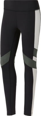 Reebok Lux Color Block Damen Tights schwarz-weiß