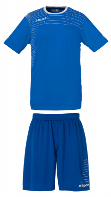 Uhlsport Match Damen Team Kit KA (Shirt/Shorts)azurblau-weiß
