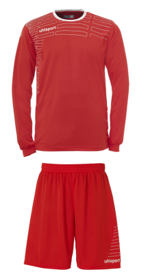 Uhlsport Match Damen Team Kit LA (Shirt/Shorts) rot-weiß
