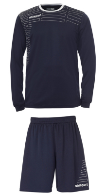 Uhlsport Match Damen Team Kit LA (Shirt/Shorts) marine-weiß