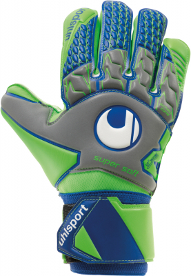 Uhlsport TENSIONGREEN SUPERSOFT Torwarthandschuh dark grau 9