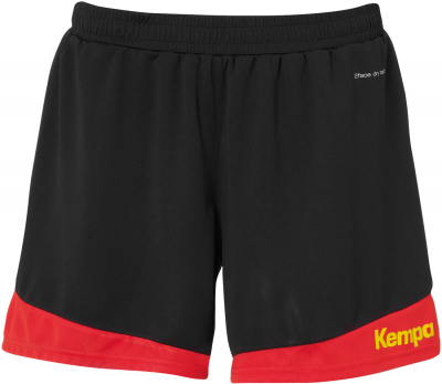 Kempa Emotion 2.0 Damen Shorts schwarz-rot-gelb