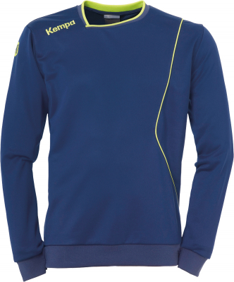 Kempa Curve Training Top deep blau-fluo gelb 128