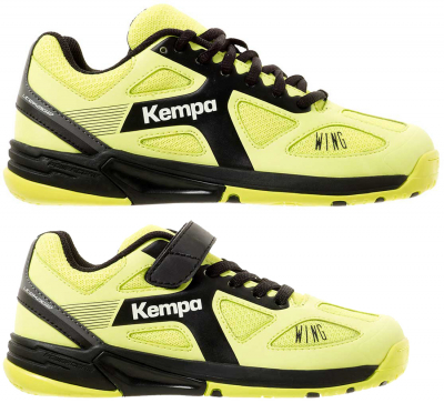 Kempa Caution Wing Kinder Handballschuh fluo gelb-anthrazit 32
