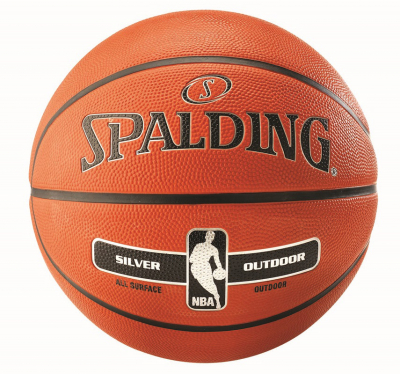 Spalding NBA Silver Outdoor Basketball orange 7