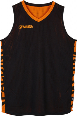 Spalding Essential Reversible Shirt schwarz-orange