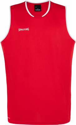 Spalding Move Tank Top rot-weiß