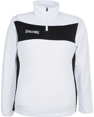 Spalding Evolution II 1/4 Zip Top weiß-schwarz