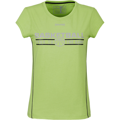 Spalding 4her Team Damen T-Shirt flash grün-schwarz