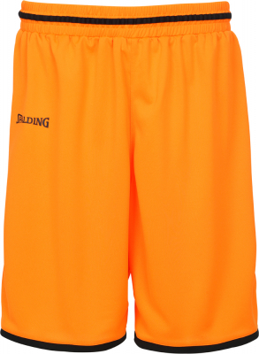 Spalding Move Shorts dark orange-schwarz