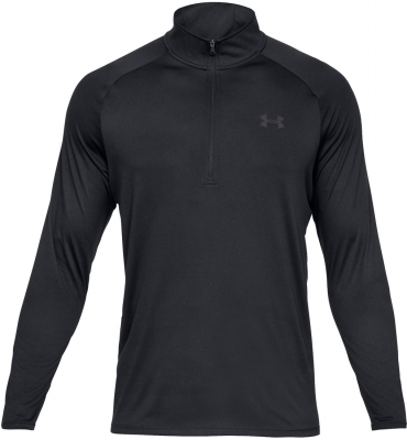Under Armour Tech 2.0 Herren 1/2 Zip Langarm Shirt schwarz